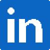 Linkedin social icon