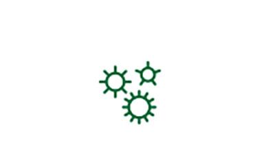 Icône de germe pour les facteurs de risque de cataracte liés aux maladies