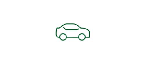 Icône de voiture représentant la sécurité accrue offerte par une LIO monofocale en situation de faible visibilité