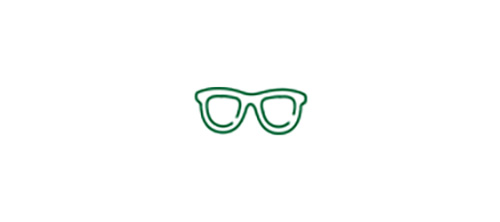 Icône de lunettes indiquant la probabilité de devoir porter des lunettes pour voir de près