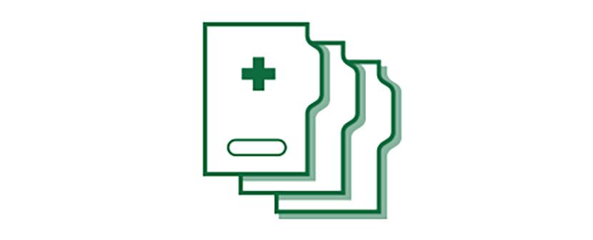 Icône de dossier médical